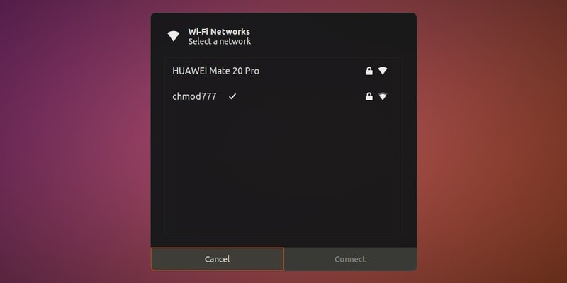 Select another wifi network in Ubuntu