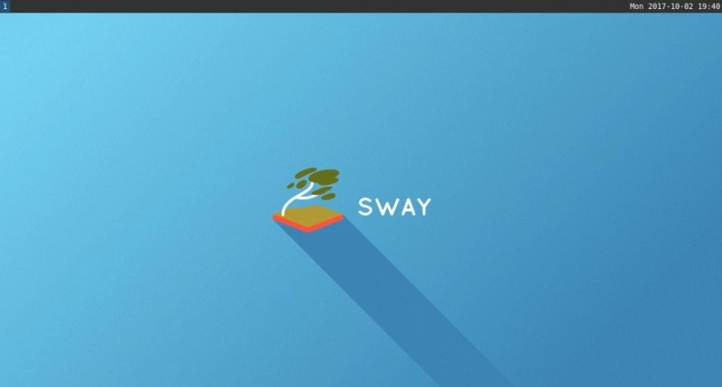 Fresh install of the Sway window manager