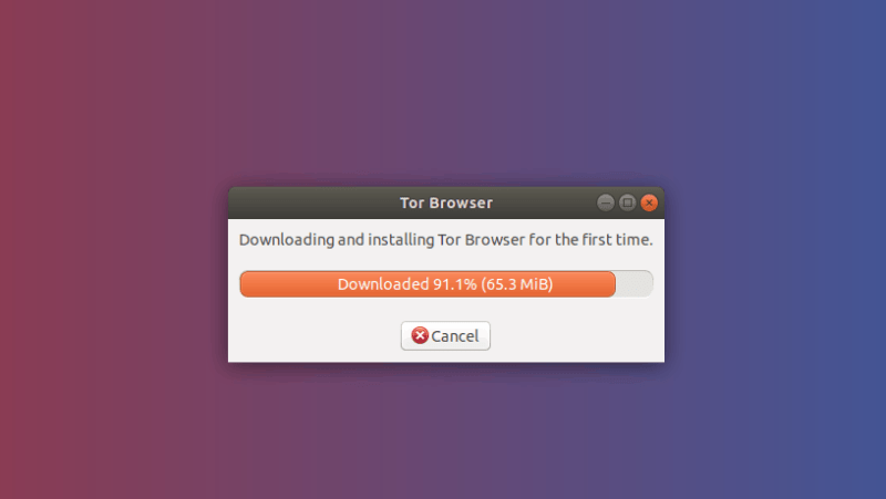 tor browser first run in Ubuntu