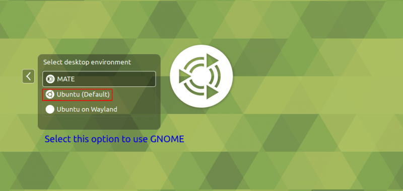 back to gnome DE after installing MATE desktop on Ubuntu