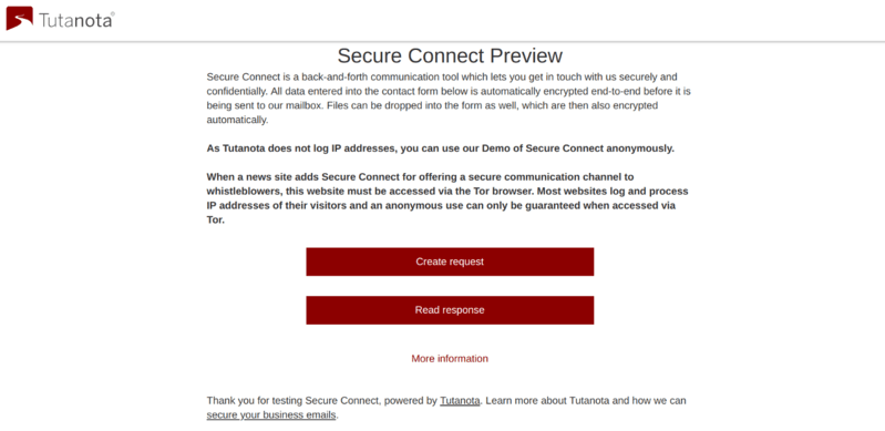 Secure Connect Encrypted Contact Form