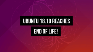 Ubuntu 18 10 Reaches End Of Life
