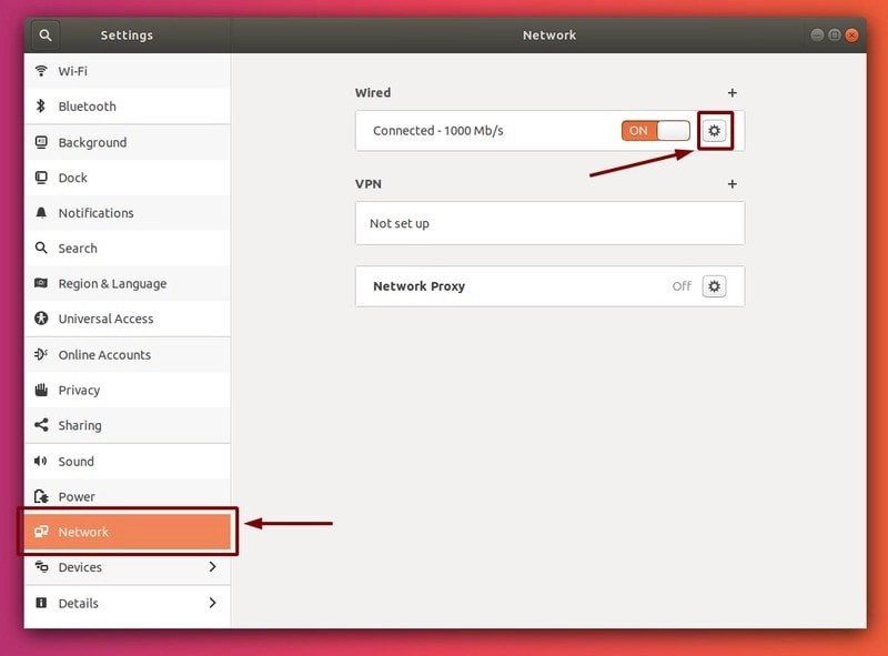 Network Settings Ubuntu
