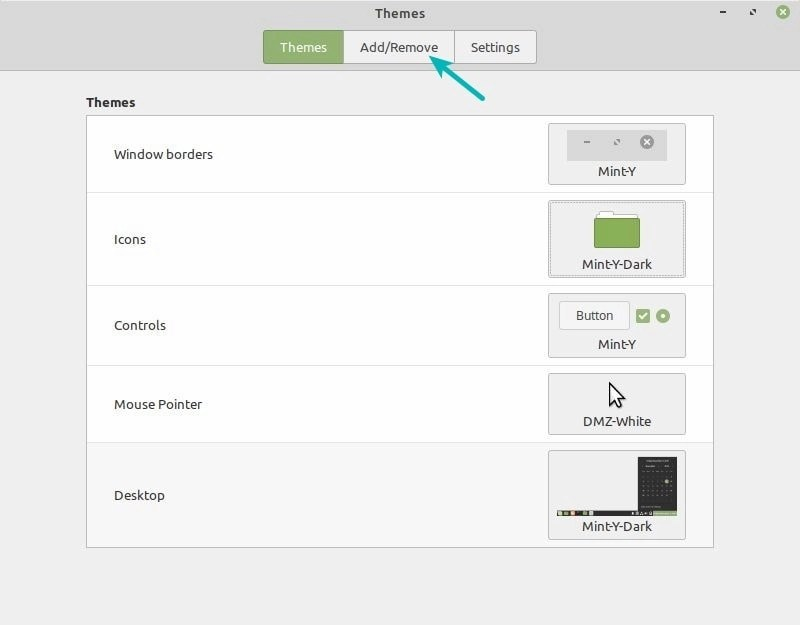 Install Theme Linux Mint