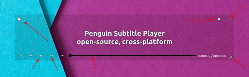 Penguin Subtitle Player Interface