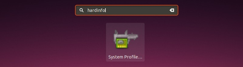 Hardinfo in Gnome Menu