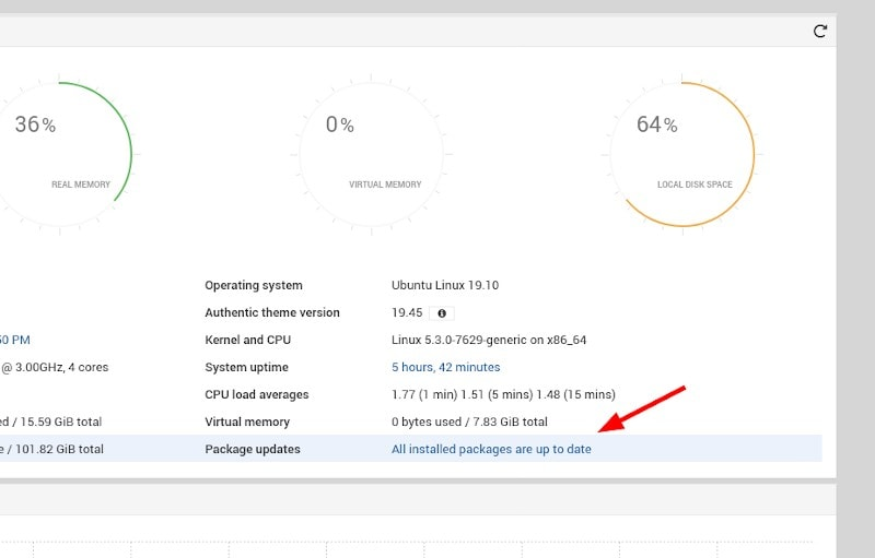 Webmin Package Updates