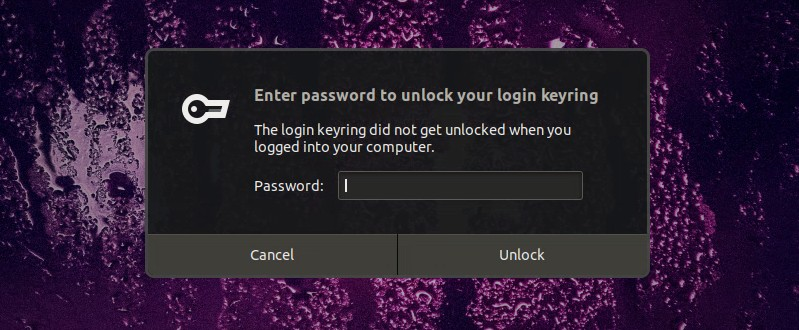 Enter Password To Unlock Your Login Keyring Ubuntu