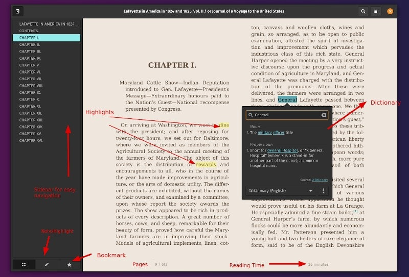 Foliate Ebook Viewer Features