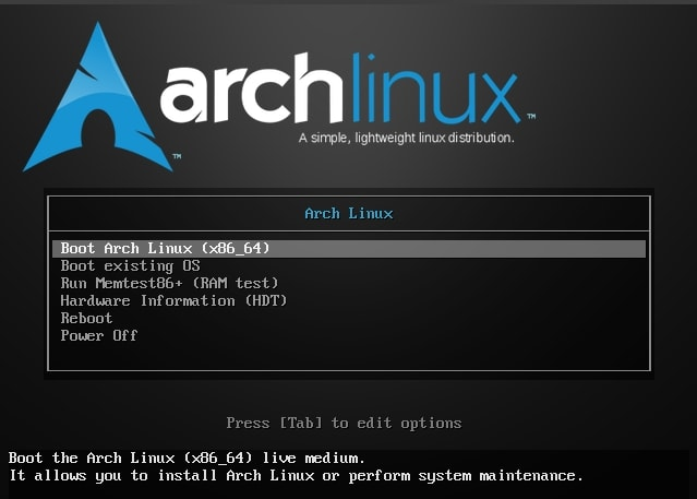 Arch Live Boot