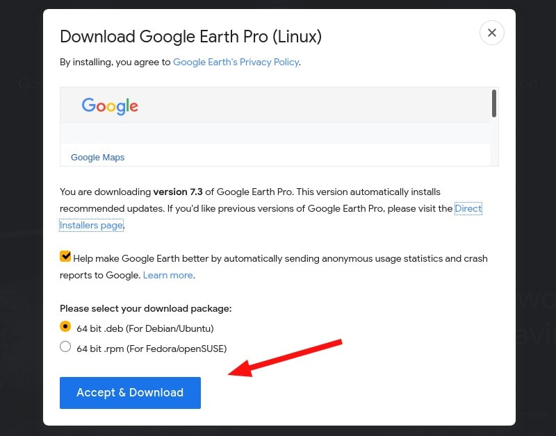 Google Earth Download Linux