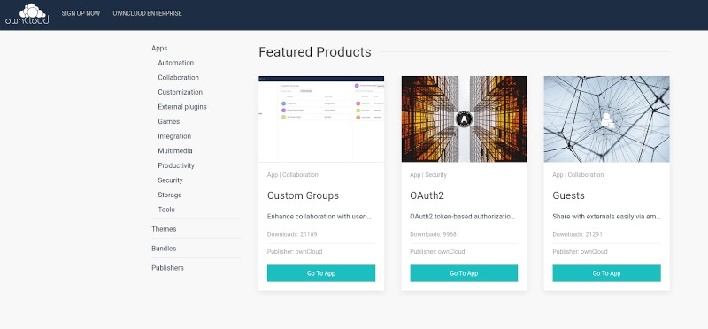 Owncloud Marketplace