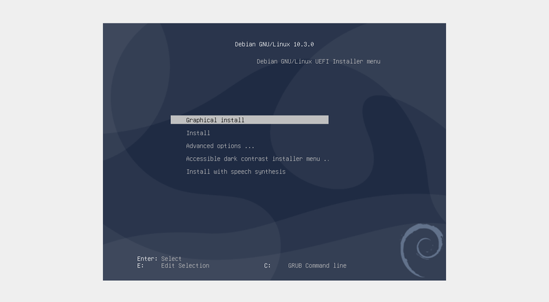 Debian Boot Screen