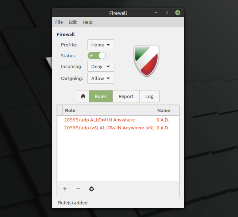 Linux Mint 20 Firewall