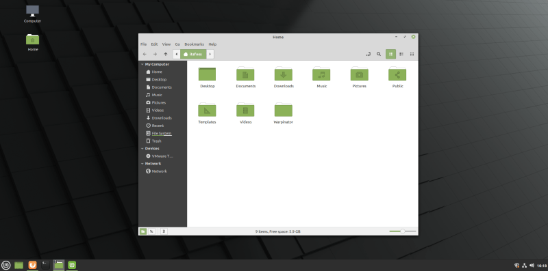 Mint 20 Nemo File Manager