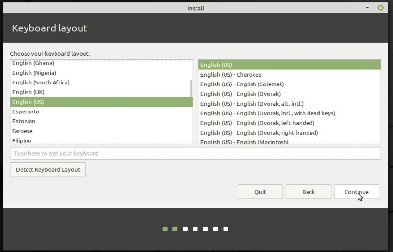 Keyboard Layout Selection Linux Mint