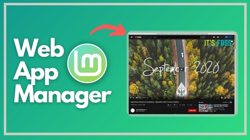 Web App Manager Linux Mint