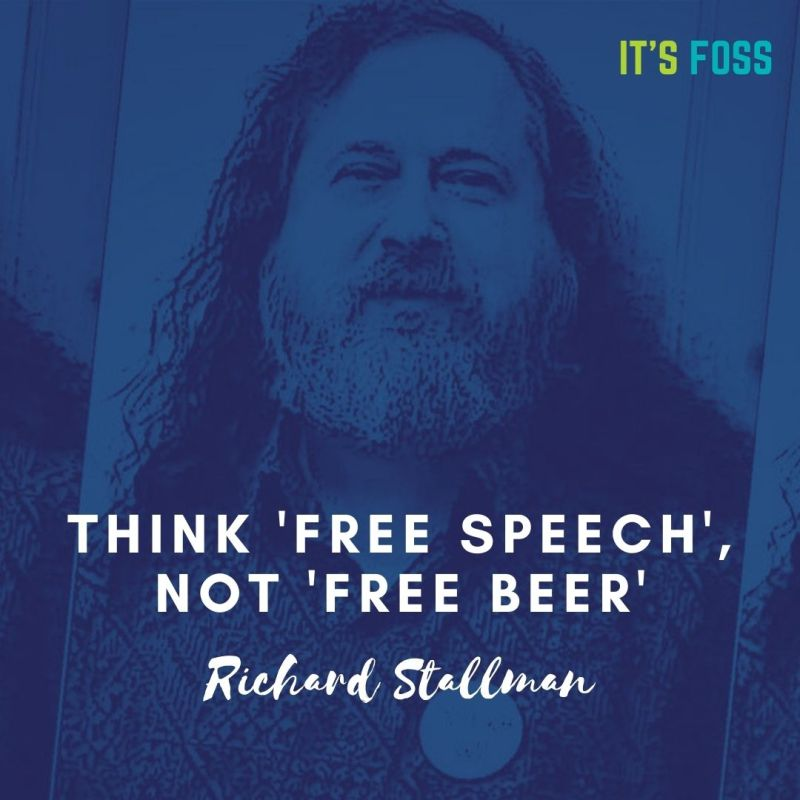 Think Free Speech Not Free Beer