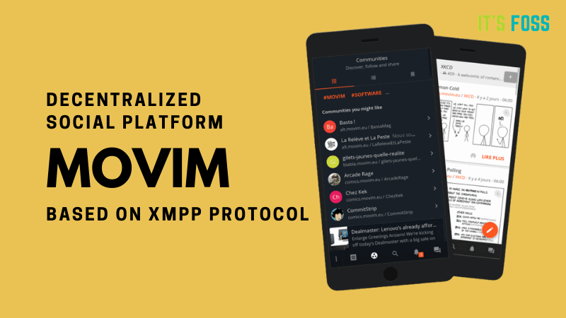 Movim: An Open-Source Decentralized Social Platform Based on XMPP Network