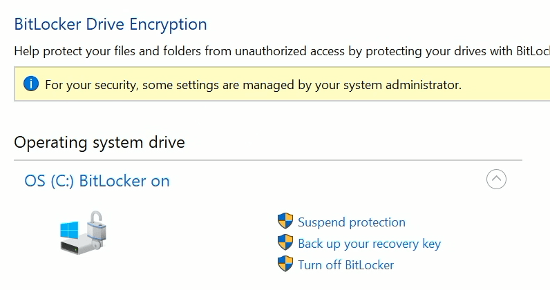 Bitlocker Encryption Windows