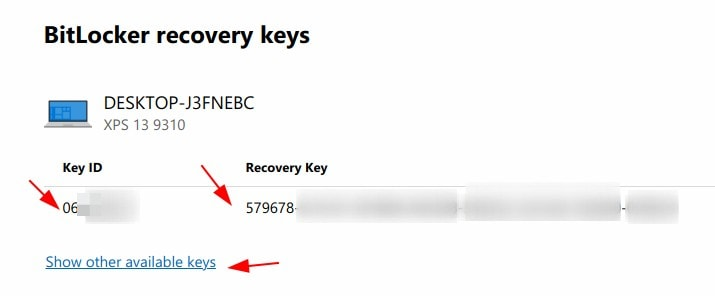 Bitlocker Recovery Keys Ms Account