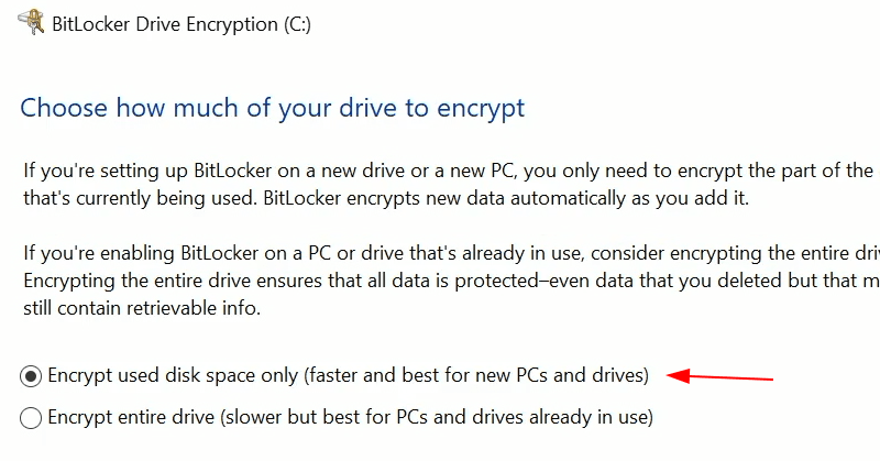 Encrypt Disk With Bitlocker