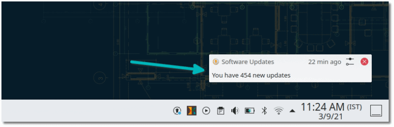 update notification opensuse