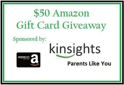 $50 Amazon Gift Card Giveaway ~~ Sponsored by Kinsights