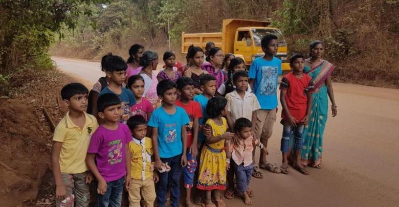 Sonshi Villagers protest