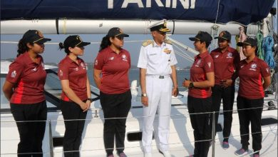 Photo of First all-women crew to circumnavigate in Goa-built INSV Tarini