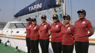 Photo of The women voyagers of INSV-Tarini return to Goa today
