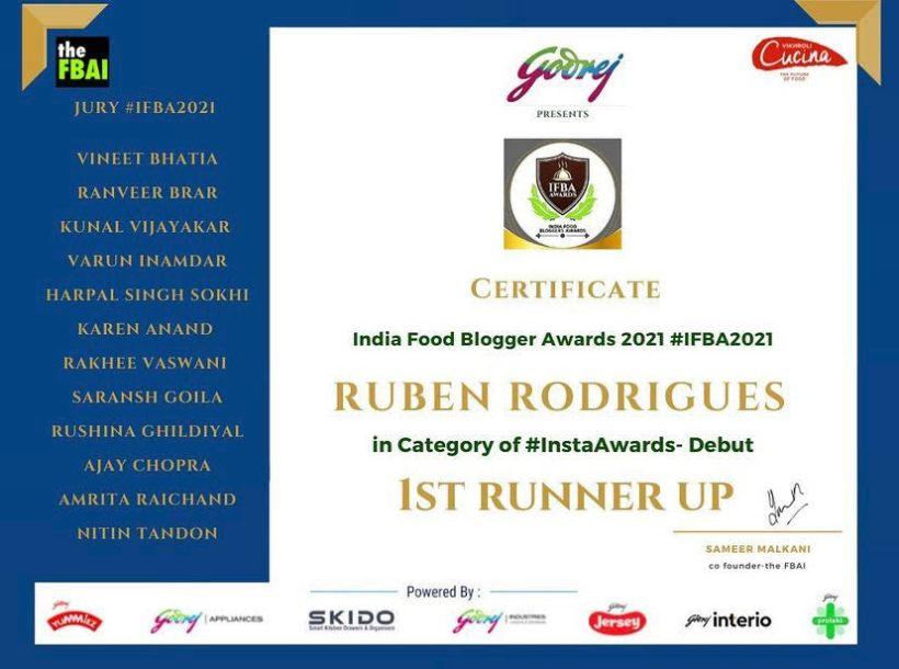 food blogger award