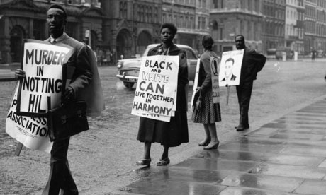 Whitehall protests against racism with a message of peace, Notting Hill Gate., 1959. Photograph by John Franks.