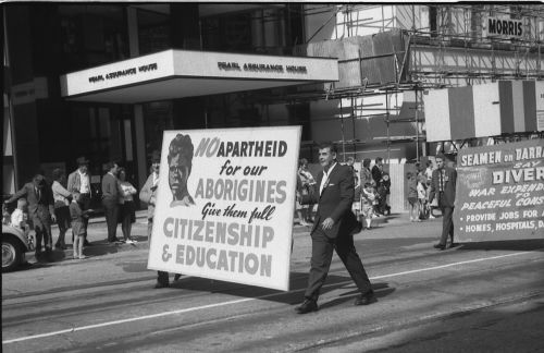 1966 May Day march in Queen Street Brisbane