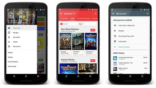 Google Play Store me dizajn të ri në Android