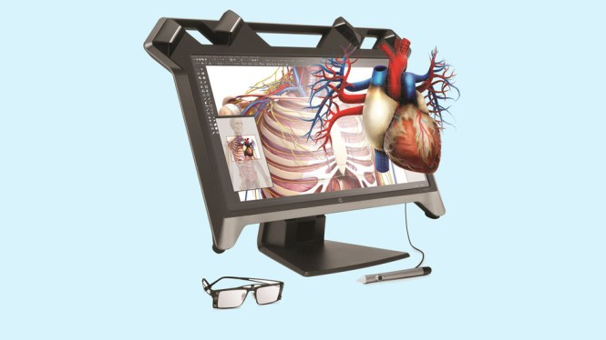 Ekran nga HP që shfaqin realitetin virtualisht ju lejojn të manipuloni me imazhe 3D