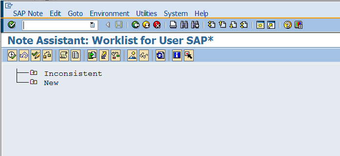 Implementation Status and Processing Status of SAP Notes