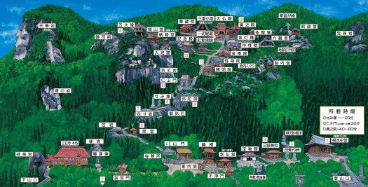 map of yama-dera