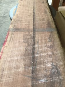 rough sawn walnut face
