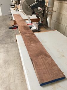 Rough sawn walnut board via It's Jou Life blog https://wp.me/p7RBMP-Vs