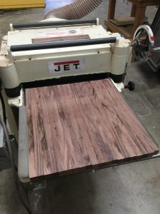 Smoothing panel using planer via It's Jou Life blog https://wp.me/p7RBMP-Vs
