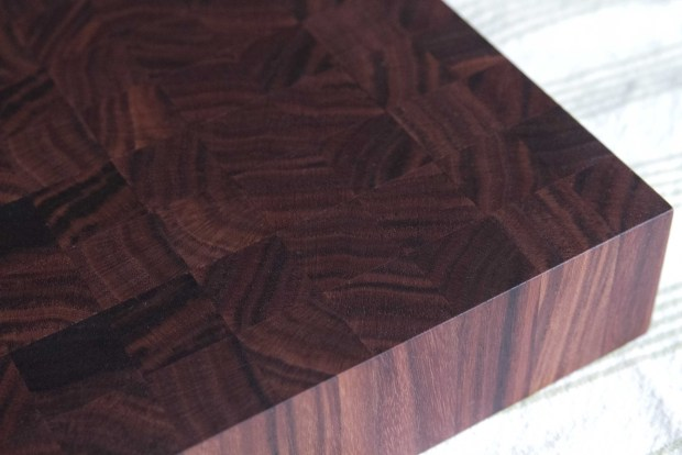 Finished walnut end-grain cutting board via It's Jou Life blog https://wp.me/p7RBMP-Vs