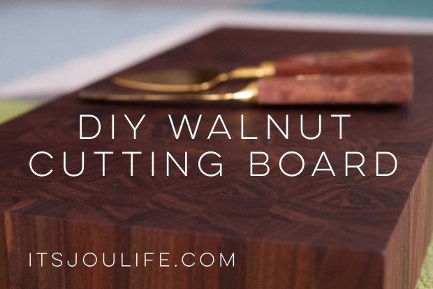 DIY Walnut End Grain Cutting Board via It's Jou Life https://wp.me/p7RBMP-Vs
