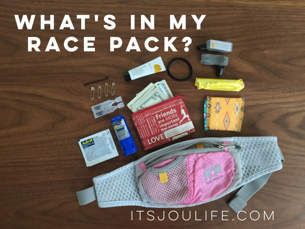 What's In My Race Pack via It's Jou Life blog // https://wp.me/p7RBMP-13B