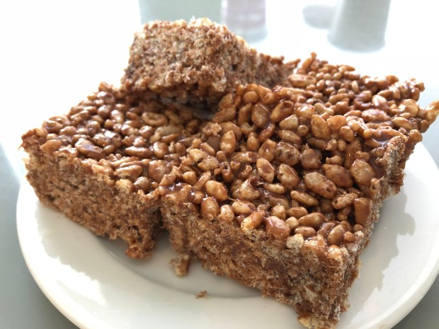 No Bake Hazelnut Rice Crispy Treats Recipe via It's Jou Life blog - https://wp.me/p7RBMP-1gp