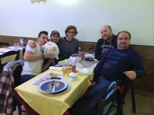 Our last night's dinner with the Italians