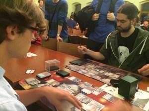 Tomáš winning game 1 in the 5th extra turn