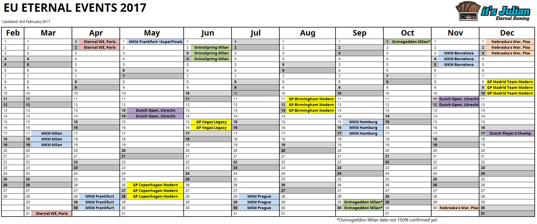 EU Eternal Calendar 2017 image
