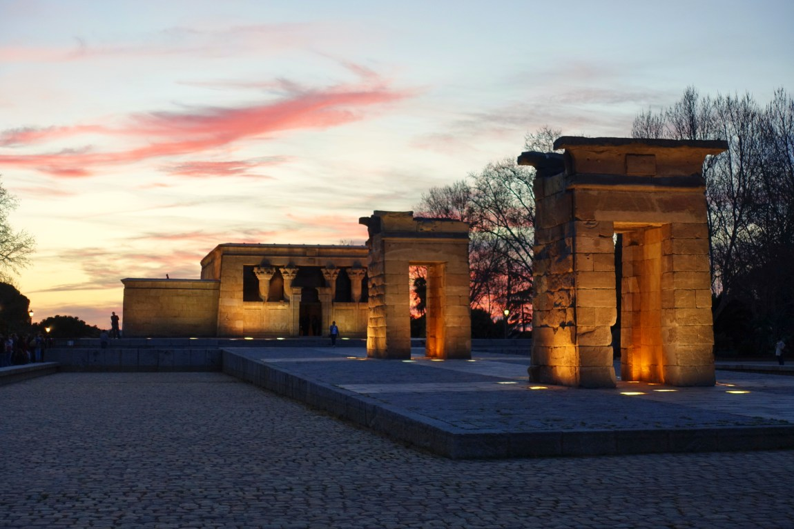 Templo de Debod at sunset