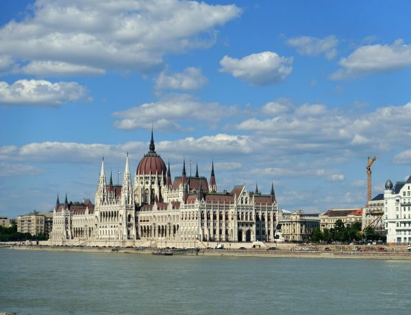 Budapest Parliament with the Danube in front of it